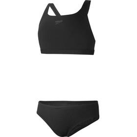 speedo Essential Endurance+ Medalist Bikini Piger, sort
